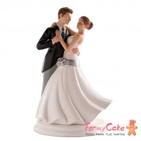 Figura para Tarta Novios Bailando 20cm Dekora
