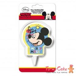 Vela Mickey Mouse 2D, 7cm Dekora