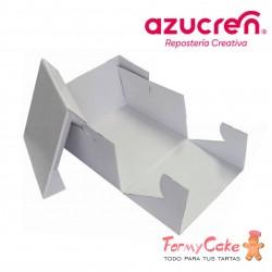 Caja Blanca para Tartas Extarfuerte 20X20X15cm Azucren