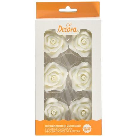 Rosas Comestibles Blancas 6ud Decora