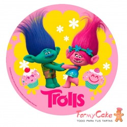 Impresión Comestible Trolls 20cm