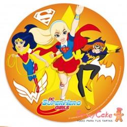 Impresión Comestible Superhero Girls 20cm
