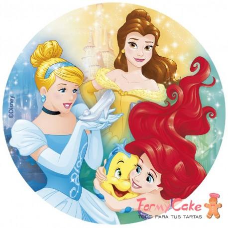 Impresión Comestible princesas 20cm