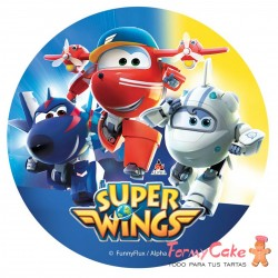 Impresión Comestible Super Wings 20cm