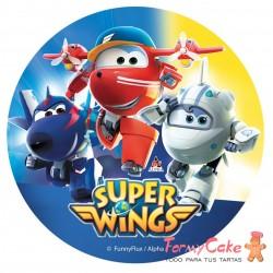 Impresión Comestible Super Wings 20cm