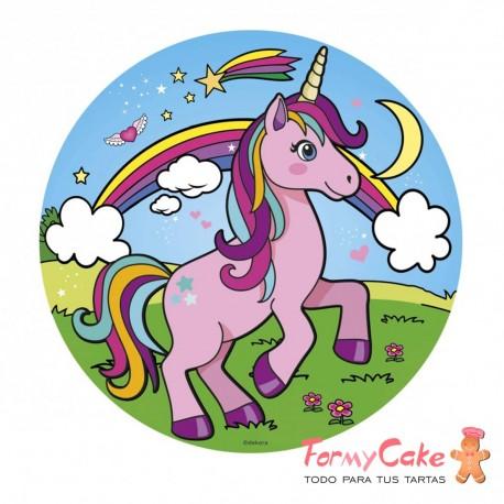 Impresión Comestible unicornio 20cm