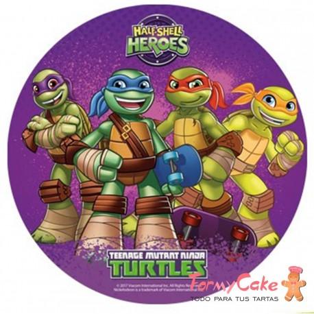 Impresión Comestible tortugas ninja 20cm