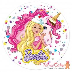 Impresión Comestible Barbie 20cm