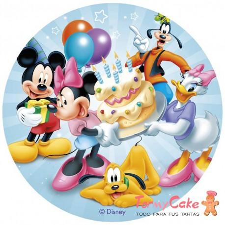 Impresión Comestible Mickey Y Sus Amigos 20cm