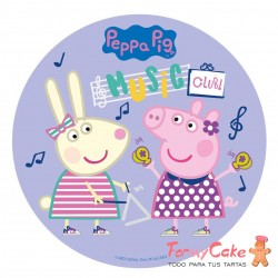 Impresión Comestible Peppa Pig Music Club 20cm