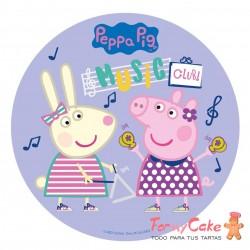 Impresión Comestible Peppa Pig Music Club 20cm
