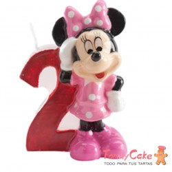 Vela Minnie Mouse nº2 Dekora