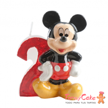 Vela Mickey Mouse nº2 Dekora