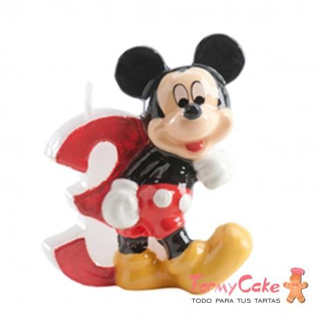 Vela Mickey Mouse nº3 Dekora