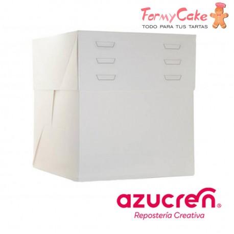 Caja Blanca para Tartas Altura Regulable 35X35X20 a 30cm Azucren