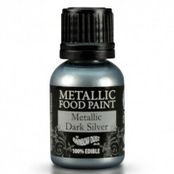 Pintura Metalizada Dark Silver Rainbow Dust 20ml