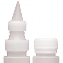 Pack de Botellas con Boquillas, Plástico, Blanco, 10 cm, 2 Ud Kitchen Craft