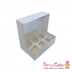 Caja 6 Cupcakes Blanca