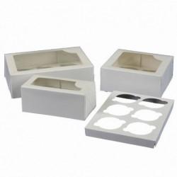 Caja 4 Cupcakes Blanca