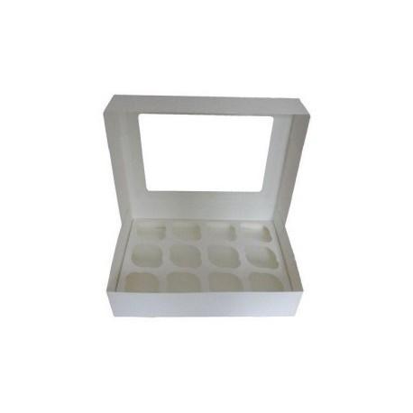 Caja 12 Cupcakes Blanca