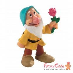 Figura Enanito Con Flor Disney 5,5cm