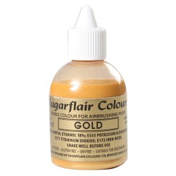 Colorante para Aerógrafo Oro 60ml Sugarflair