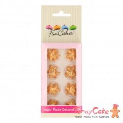 Decoración Azucar Estrellas Doradas 24ud Funcakes