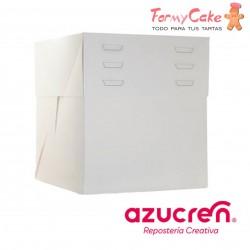 Caja Blanca para Tartas Altura Regulable 25X25X20 a 30cm Azucren