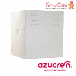 Caja Blanca para Tartas Altura Regulable 40X40X20 a 30cm Azucren