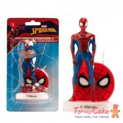 Vela Spiderman 3D, 7,5cm Dekora
