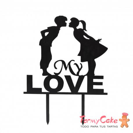 "Cake Topper Acrílico ""Love"" Modelo 2"