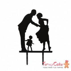Cake Topper Acrílico Familia