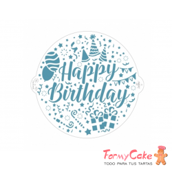 Stencil Happy Birthday 25cm Decora