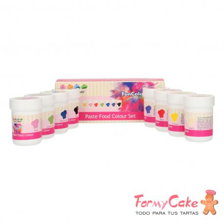 FunColours Colorante en Pasta Set/8 Funcakes