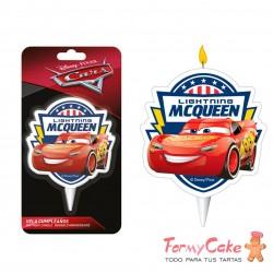 Vela Cars, Rayo McQueen 2D, 7,5cm Dekora
