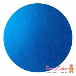 Base Redonda Gruesa para Tartas 30cm Azul Rey Decora