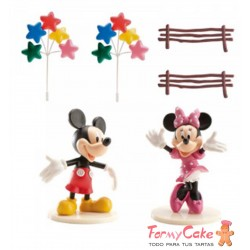 Kit MICKEY & MINNIE , Globos y Valla Dekora