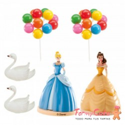 KIT PARA DECORAR TARTAS PRINCESAS DISNEY