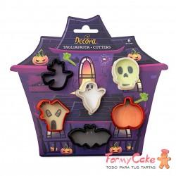 Kit Cortadores Mini Halloween 6ud. Decora