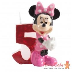 Vela Minnie Mouse nº5 Dekora