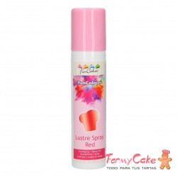 Colorante en Spray Metallic Red, 100ml Funcakes