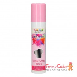 Colorante en Spray Metallic Black, 100ml Funcakes
