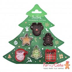 Kit Mini Cortadores Decoración Navidad 6ud. Decora