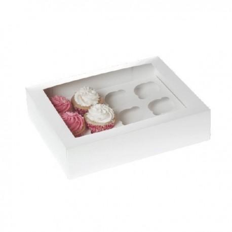Caja 12 MiniCupcakes Blanca