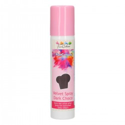FunColours Velvet Spray -Dark Choco- 100ml. Funcakes