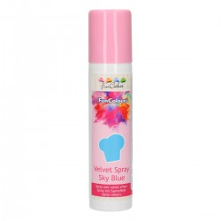 FunColours Velvet Spray -Sky Blue- 100ml. Funcakes