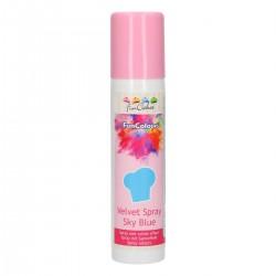 FunColours Velvet Spray -Sky Blue- 100ml. Funcakes
