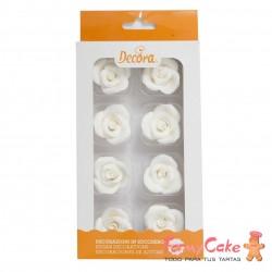 Rosas Comestibles Blancas 8ud Decora