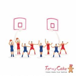 Kit Baloncesto para Tartas 10 Piezas Decora