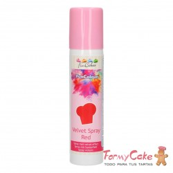 FunColours Velvet Spray -Red- 100ml. Funcakes